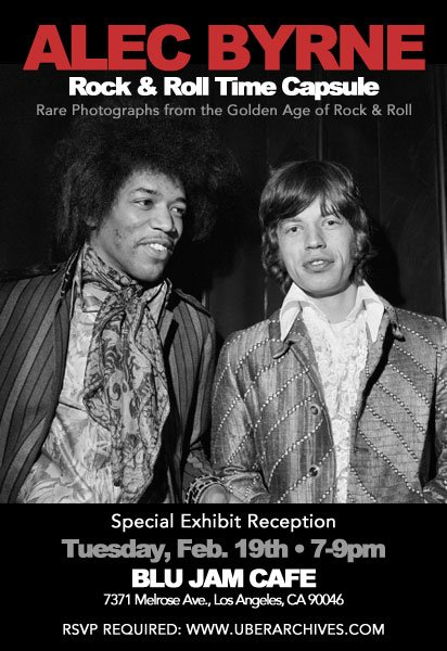 Special Exhibition at Blu Jam Cafe: Alec Byrne – Rock & Roll Time Capsule