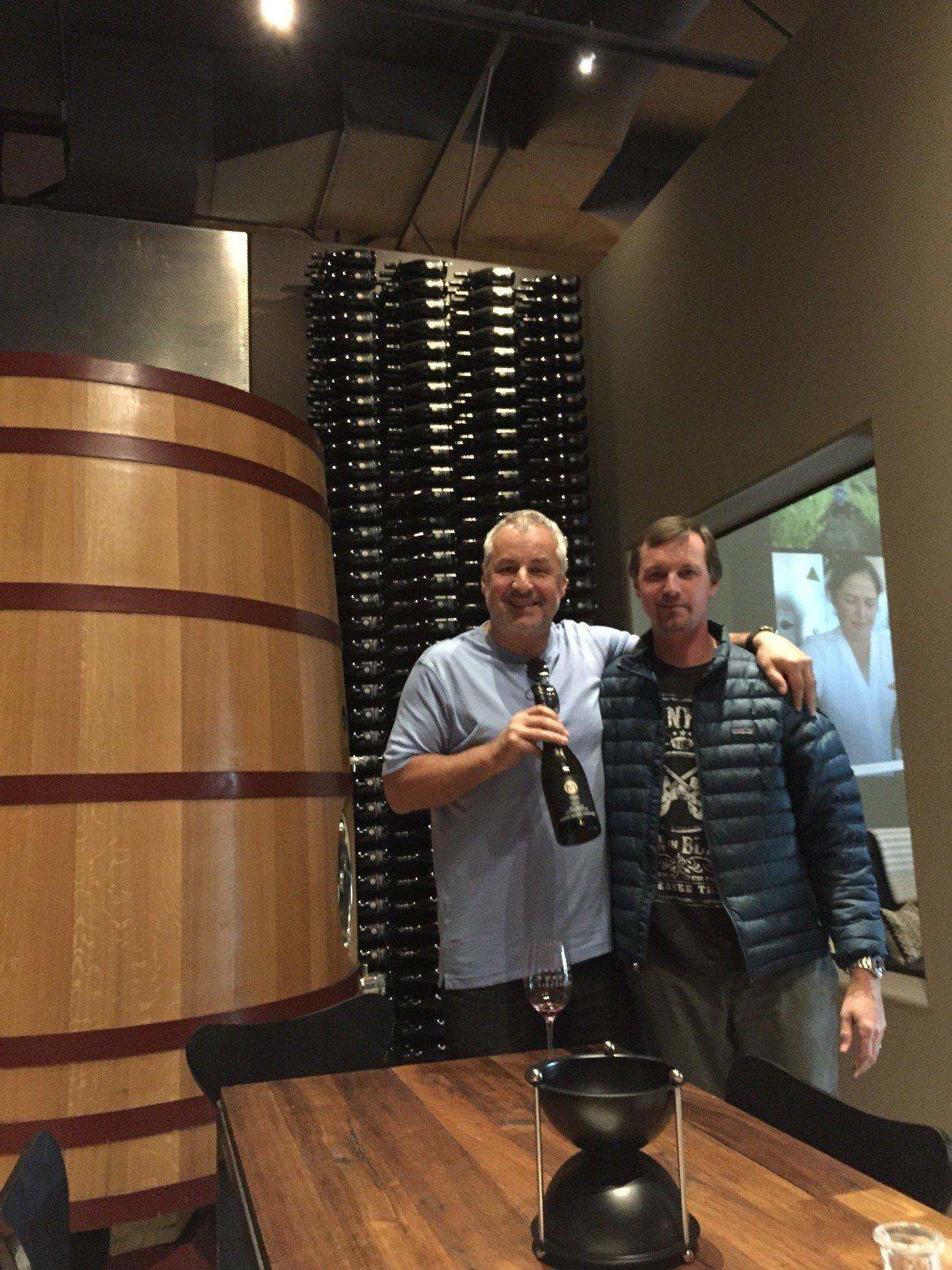 Kamil at Andrew Murray Vineyard winery