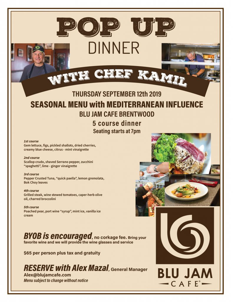 POP UP DINNER with CHEF KAMIL